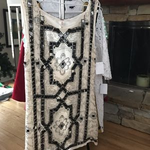 FREE PEOPLE sexy beaded slip dress